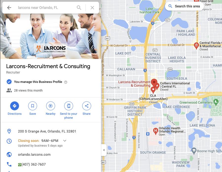 Larcons Orlando Office Location image